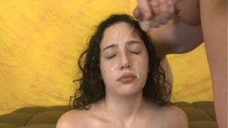 Brunette Very Rough Face Fucking And Facial Cumshot