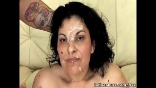 Messy Latina Facial