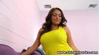 ThisGirlSucks Big tits pornstar Rikki Nyx blowjob facial cumshot
