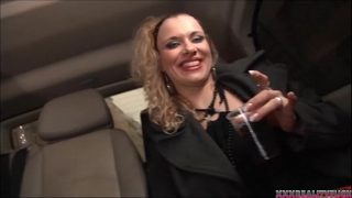 Two sexy blonde bitches catching dude with big hard dick for good fuck in the car